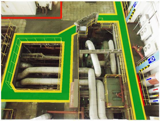 Пример 3 визуализации проекта  маркировки опасных зон
